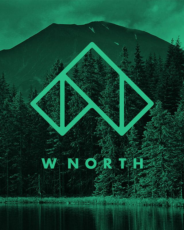 W North